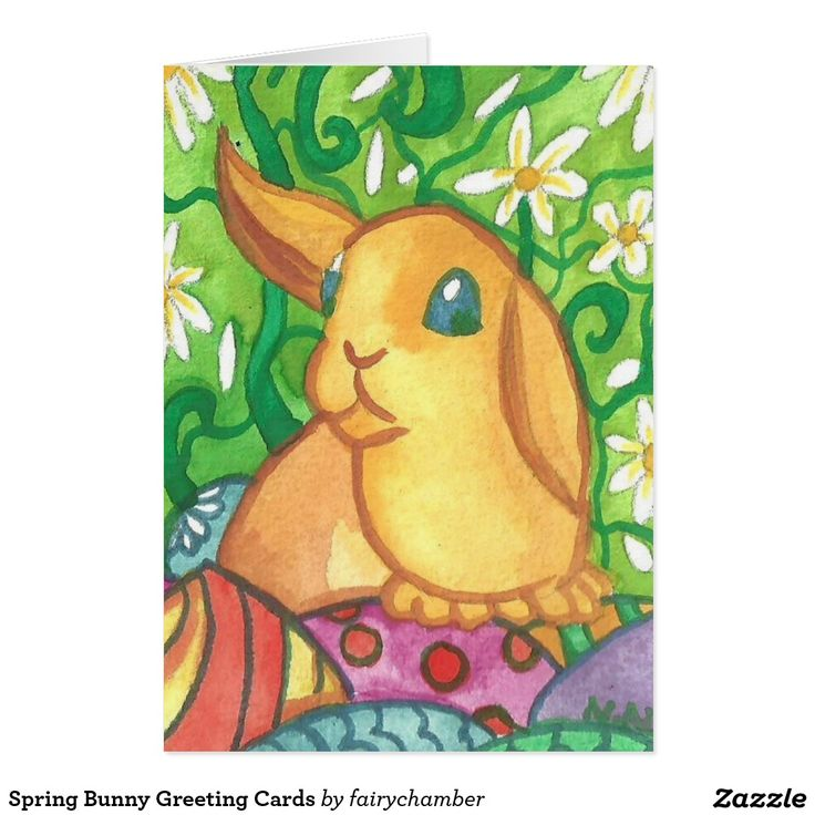 Spring Bunny Greeting Cards