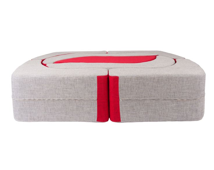 Cheesecake Modular Sofa / Colour: Poppy & Chilli #modular #sofa #sofabed #extensible #cool #comfort #creative #foam #colourful #young
