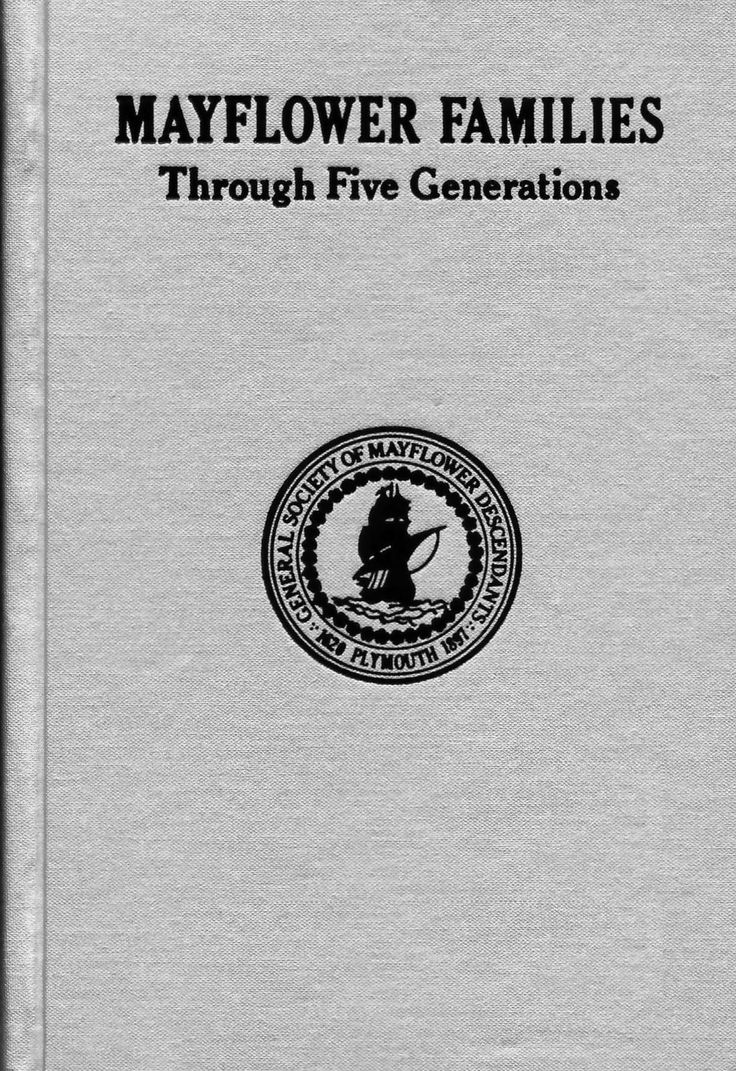 Mayflower Families Through Five Generations, Vol. 11.1 - Doty ~ There are everal more volumes of this set.
