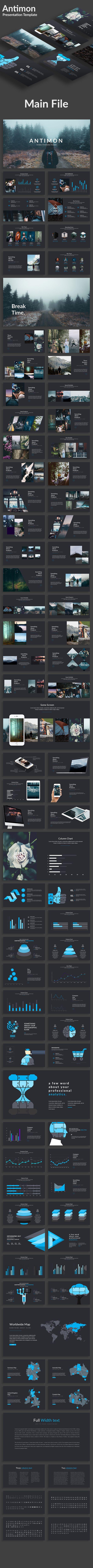 Antimon Creative Powerpoint Template - Creative PowerPoint Templates