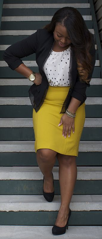 "Professional attire  , #curvy #sexy #thick  Classic and gorgeous curvy woman <3     ""if you like my curvy girl's fall/winter closet, make sure to check out my curvy girl's spring/summer closet.""   http://pinterest.com/blessedmommyd/curvy-girls-springsummer-closet/pins/"