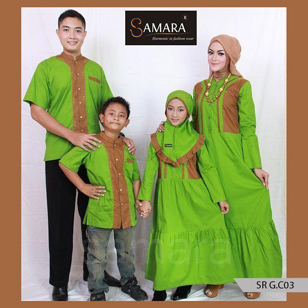Baju muslim keluarga bahan katun sepertinya semakin banyak diminati di kalangan muslim indonesia. Seperti halnya gamis yang satu ini. Dengan kombinasi warna hijau apel dan coklat susu, terkesan sangat lembut saat anda memakainya.  Sangat cocok pula untuk digunakan saat acara formal maupun non-formal. Berbahan dasar katun twill 40s yang nyaman. Membuat anda selalu nyaman memakainya seharian. Tidak gerah dan tidak mudah kusut.  Harga 1 Set Sarimbit C.03 Rp. 560.000,- Kode Koko : KC.03 Size…
