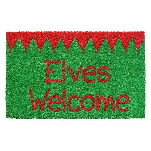 Elves Welcome Nonslip Coir Doormat