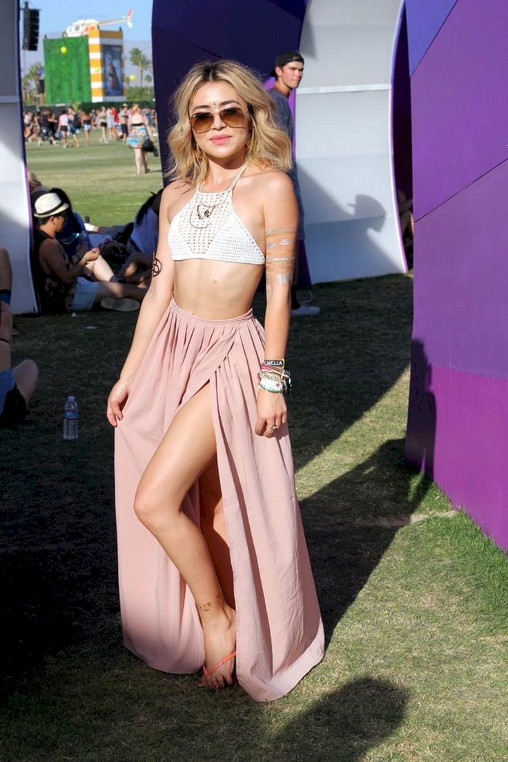 60+ Bestes Boho Chic Damen-Coachella-Festival-Outfit