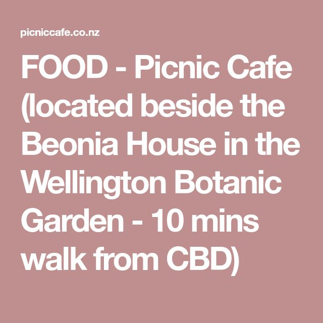 FOOD - Picnic Cafe (located beside the Beonia House in the Wellington Botanic Garden - 10 mins walk from CBD)