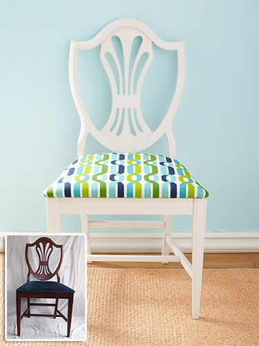 Cover a Chair Cushion @Mary Sapio's Day  Dining room chairs?