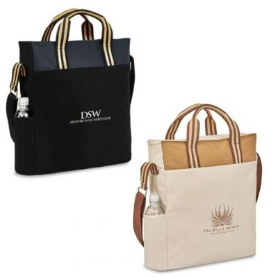 Personalized 12oz Cotton Tote with Zippered Main Compartment