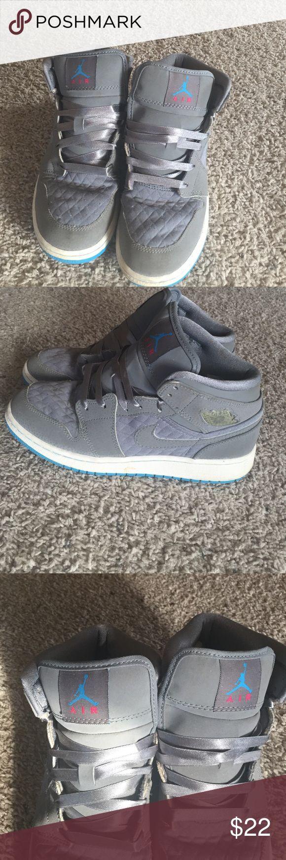 Air Jordan Girls high top tennis shoes Girls Air Jordan high top tennis shoes Air jordan Shoes Athletic Shoes