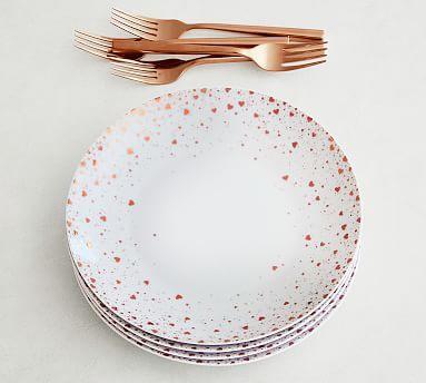 Monique Lhuillier Heart Confetti Appetizer Plate, Mixed Set of 4 #potterybarn