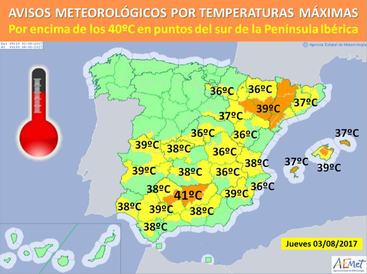 AEMET publish alert for high temperatures for the south of Alicante province - http://www.theleader.info/2017/08/03/aemet-publish-alert-high-temperatures-south-alicante-province/