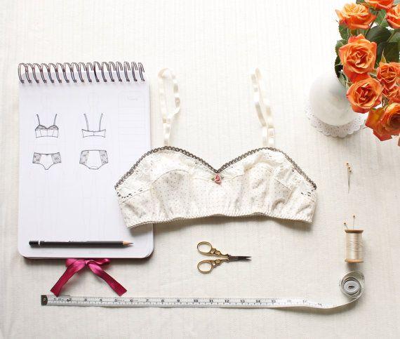 Vintage Style Bra Sewing Pattern Ohhh Lulu 1301 by OhhhLuluSews