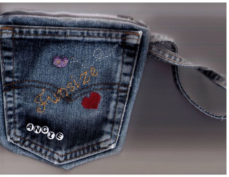 Jeans pocket purse - DIY from old jeans | Possibilities ...