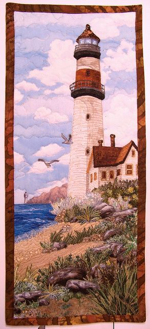 Lighthouse quilt by Sundaysquilts