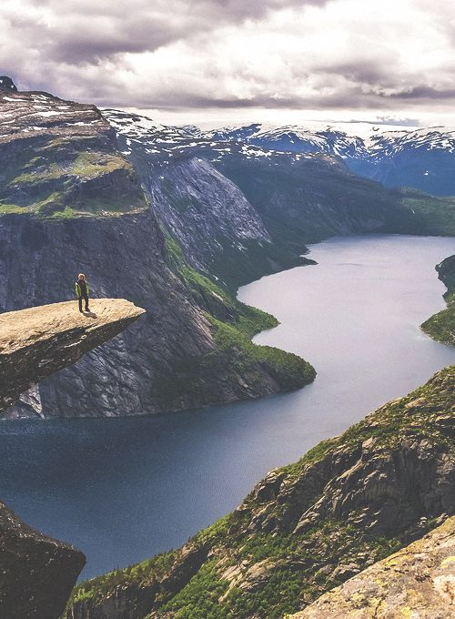 Hordaland Fylke, Norway.  I want to go see this place one day.: Adventure, Trolltunga Norway, Hordaland Fylk, Beautiful, Outdoor, The Edge, Lion King, Travel, Places