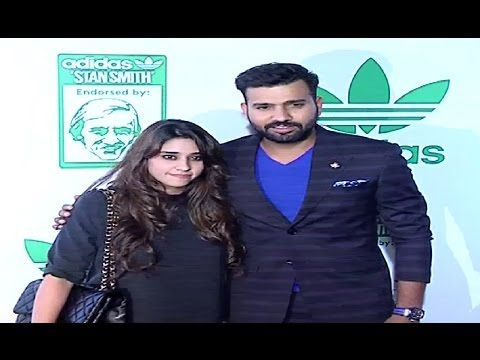 Rohit Sharma with wife Ritika Sajdeh at an Adidas event.