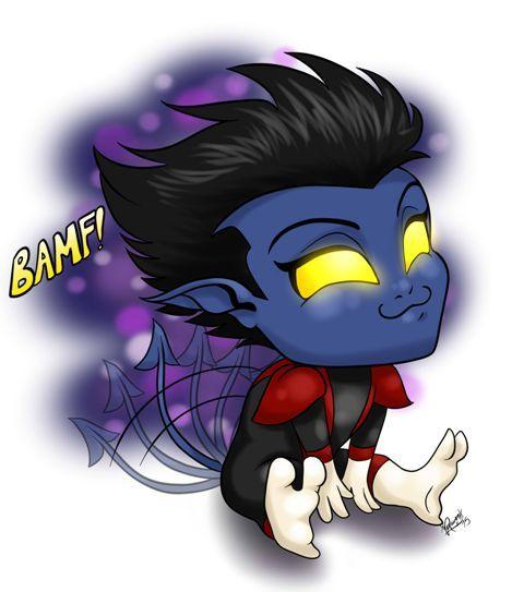 15 best DC comics images on Pinterest | Chibi, Drawings ... X Babies Nightcrawler