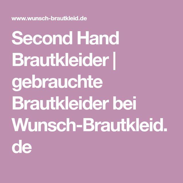 Second Hand Brautkleider | gebrauchte Brautkleider bei Wunsch-Brautkleid.de
