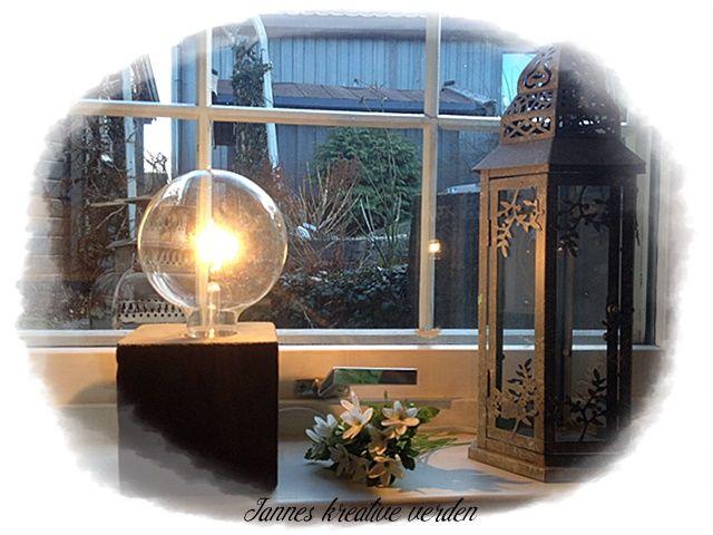 Jannes kreative verden: Betonglampe