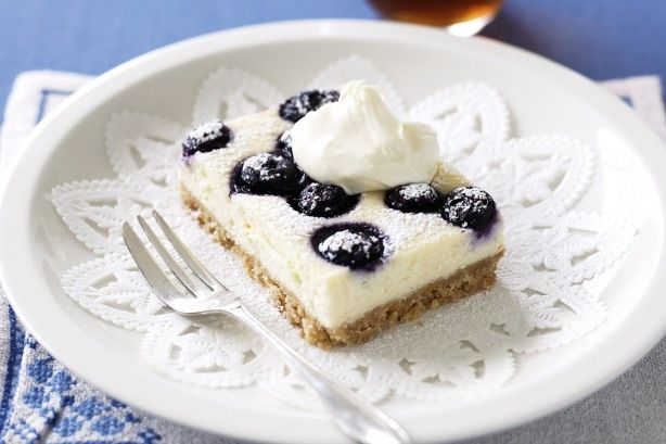 Liven up cheesecake with the heavenly combination of juicy blueberries and vanilla.