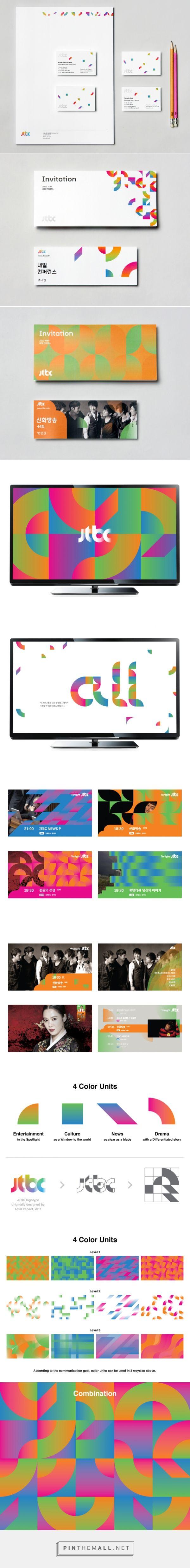 brand identity for JTBC - studio fnt.
