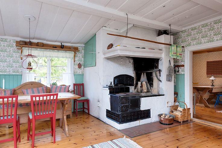 """Dream kitchen! """"Krångåsens fäbod"""" (old summer farm) in Mora, Dalarna, Sweden."""