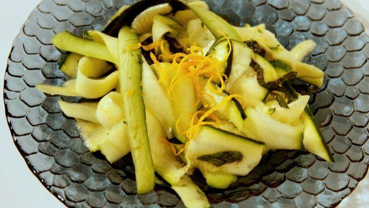 Balsamic Zuchini Mint Salad (Paleo, Vegan, Raw) (Gennaro Contaldo)