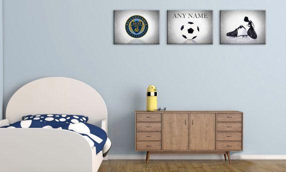 Personalized set of 3 Philadelphia Union photo print,sports decor,Philadelphia…