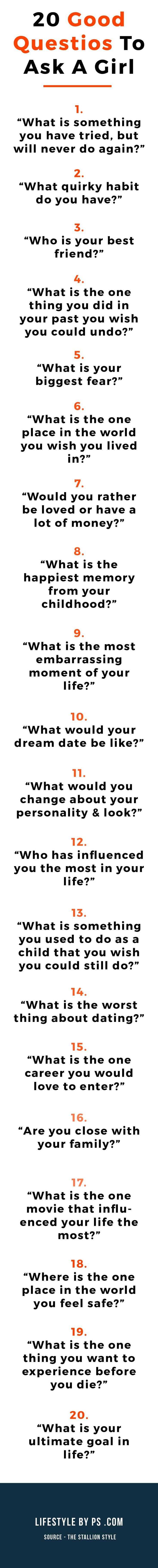 20 Good Questions To Ask A Girl