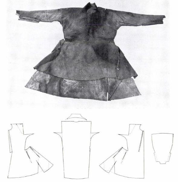 Dołoman węgierski.  Datowanie: koniec XVI wieku  Źródło: Maria Ember, XVI-XVII szazadi ruhadarabok a sarospataki kriptakbol.