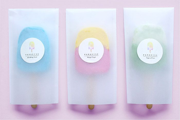 PARADISE is the branding project for a non-existing mobile food business for a school project. It is a brand that promotes healthy popsicles that contains natural