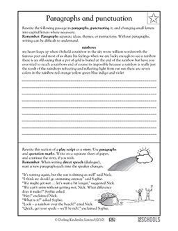 4th grade, 5th grade Writing Worksheets Punctuating a