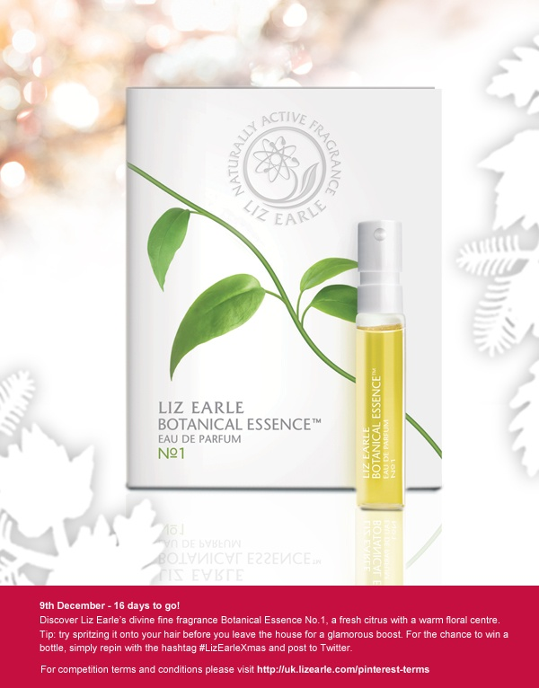 For a chance to win Botanical Essence No.1, repin and post to Twitter with #LizEarleXmas on 9 Dec!