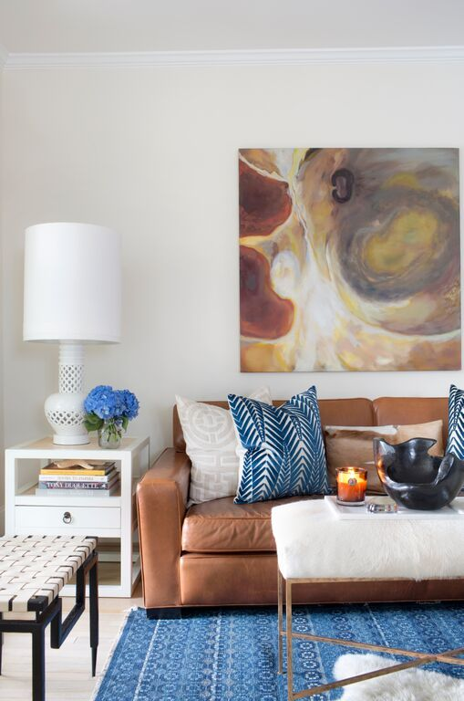 This caramel leather sofa is to die for– and so is the designer featured in our latest blog post.  Read all about why we love Jayme Armour and what inspires her gorgeous designs!