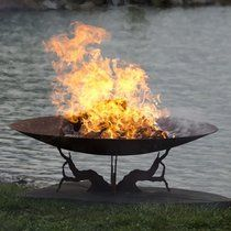 Earth And Sky Custom Outdoor Fire Pit - Sculptural Fire Bowl by
