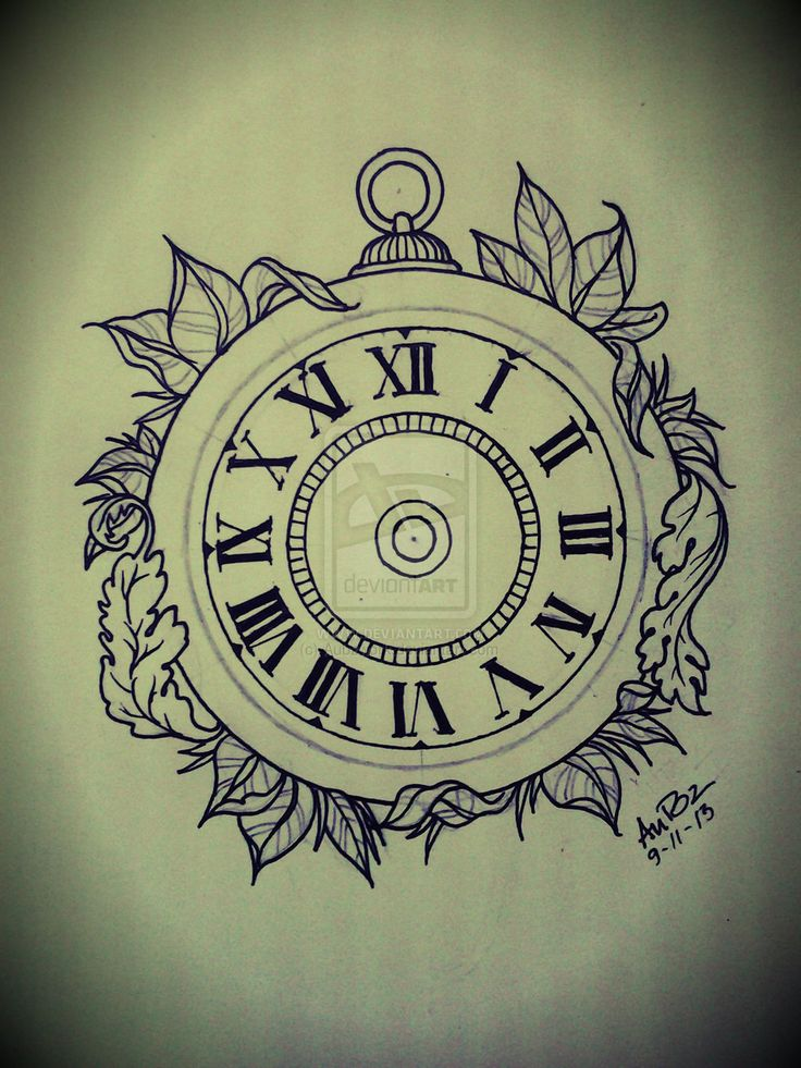 Pocket watch tattoo sketch  57 besten Clock Tattoo Sketches Bilder auf Pinterest | Tattoo ...