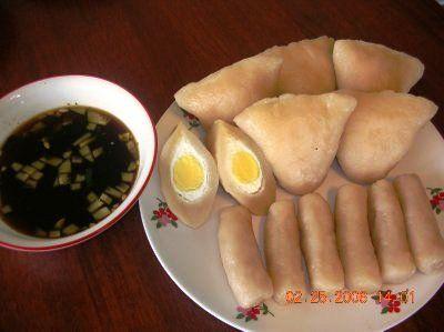 Pempek. Makanan khas Palembang, Indonesia. Delicious..yummyumm..