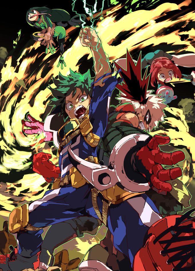 My Hero Academia Boku no Hīrō Academia est un shōnen manga écrit et dessiné par Kōhei Horikoshi. Il est prépublié depuis juillet 2014 dans le magazine Weekly Shōnen Jump de l'éditeur Shūeisha, et six tomes sont sortis en novembre 2015. La version française est publiée par Ki-oon à partir d'avril 2016. L'histoire est basée sur une histoire courte réalisée sept années auparavant par l'auteur.  Une adaptation en anime par le studio Bones est en production.