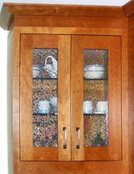 Bendheim Cabinet Bubble Glass Inserts Kitchen