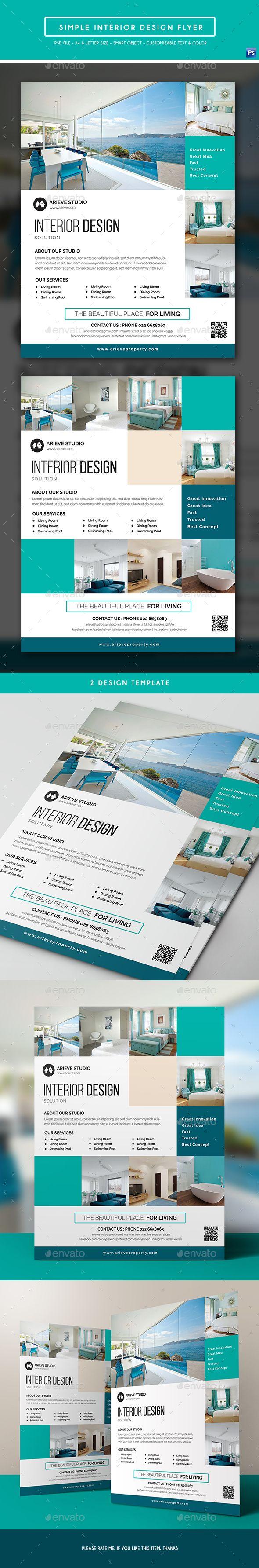 Simple Interior Design Flyer Template PSD. Download here: http://graphicriver.net/item/simple-interior-design-flyer/16612439?ref=ksioks