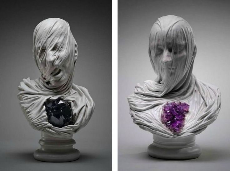 "Cool ""ghost underground sculptures carved from stone"