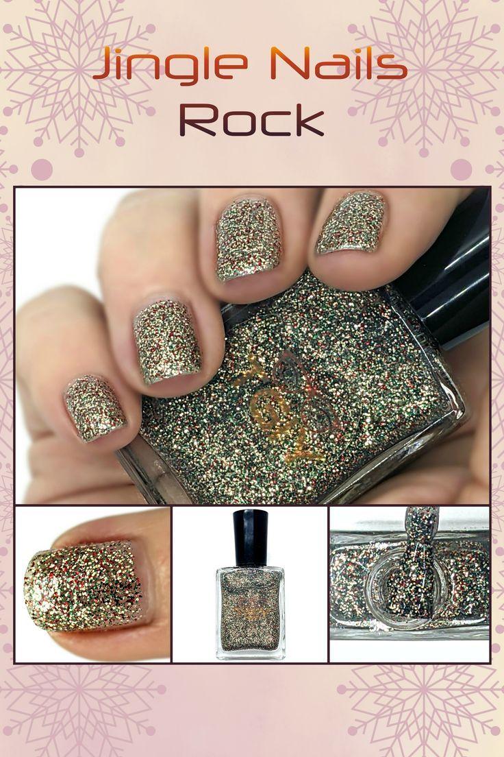 Jingle Nails Rock 15 Free Gold Glitter Vegan Nail Polish Etsy Nail Polish Holiday Nails Vegan Nail Polish