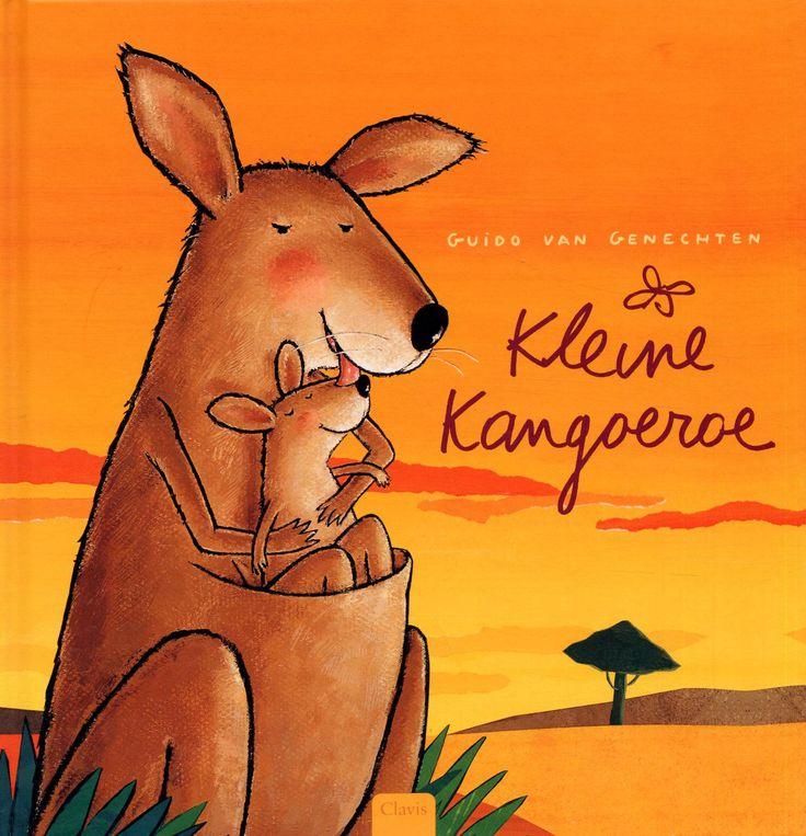 Kleine Kangeroe vindt het zo knus en veilig in de buidel van haar moeder, dat ze geen zin heeft de wijde wereld in te gaan....