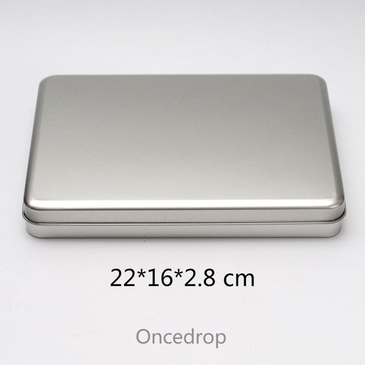 A5 rectangular metal tins blank diy storage box 7 8 inch tablets case - Qty 1