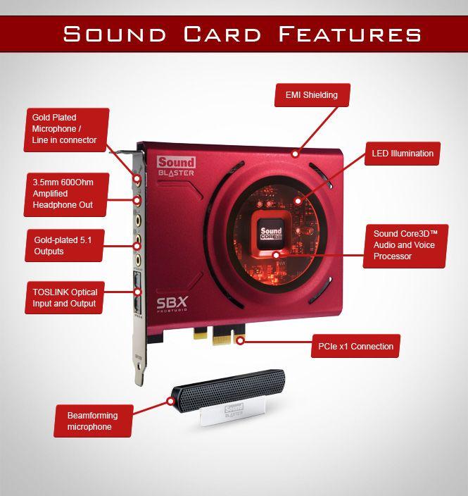 Creative Sound Blaster Z 70SB150000000 5.1 Channels 24-bit PCI Express (x1, x4 or x16) Interface Sound Card