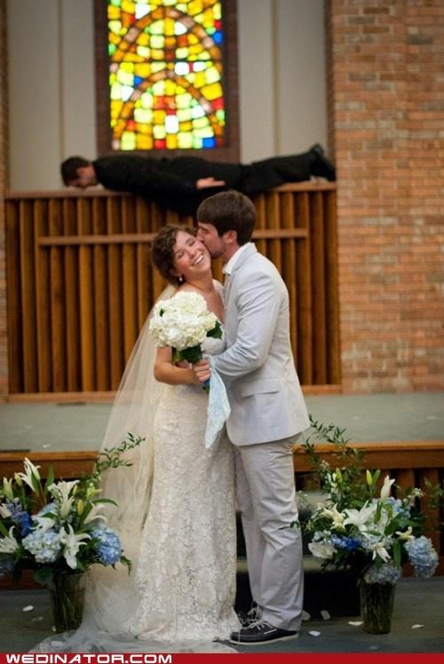 funny wedding photos – And The Preacher Planked bwahahaha