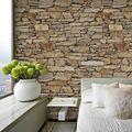 HaokHome Старинные Искусственного Камень Кирпич Обои Rolls-Коричневый/Песочный/Серый 3D Реалистичные Бумаги Фрески Главная Спальня Гостиная Стены украшения
