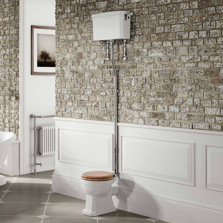 Traditional High Level Toilet Victorian Ceramic Cistern Luxury Bathroom WC Pan in Home, Furniture & DIY, Bath, Toilets & Bidets | eBay