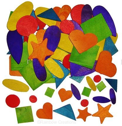 Rainbow Creations Coloured Wooden Shapes
