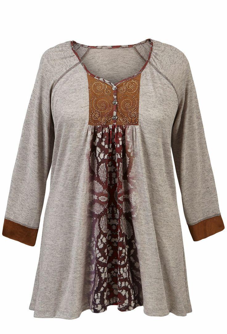 Blusas modernas para gorditas pinterest te bluz vestido para