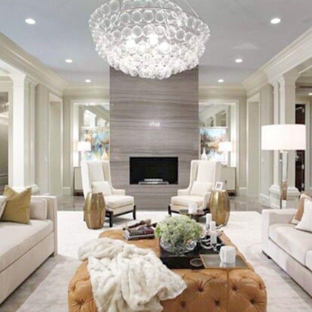 So Beautiful Living Room #livingroom #homedecor #homeinterior #sofa  #chandelier #sbdesignsquare Part 82